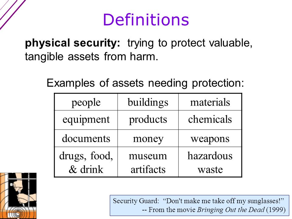 Warnings (con't) 6.Watch out for the multi-layer fallacy: Believing that multiple layers of bad security equals good security.