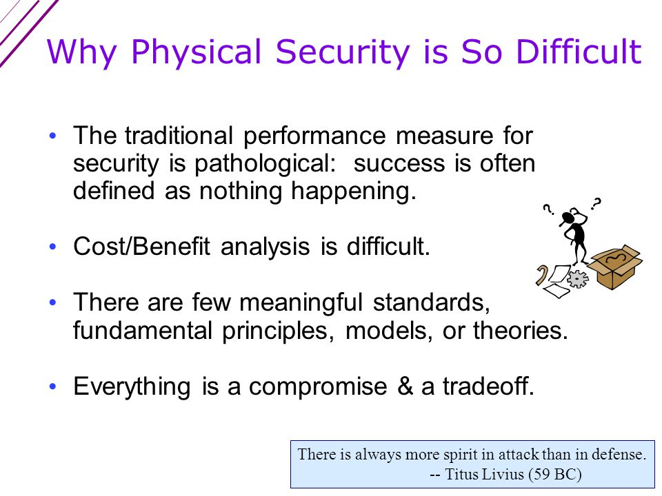 Attributes of Flawed Security Programs (con't) 6.