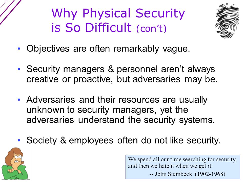 Limitations of Conventional Risk Management (or DBT) There is rarely any guidance on how to determine the Threats & Vulnerabilities other than looking at past security incidents.