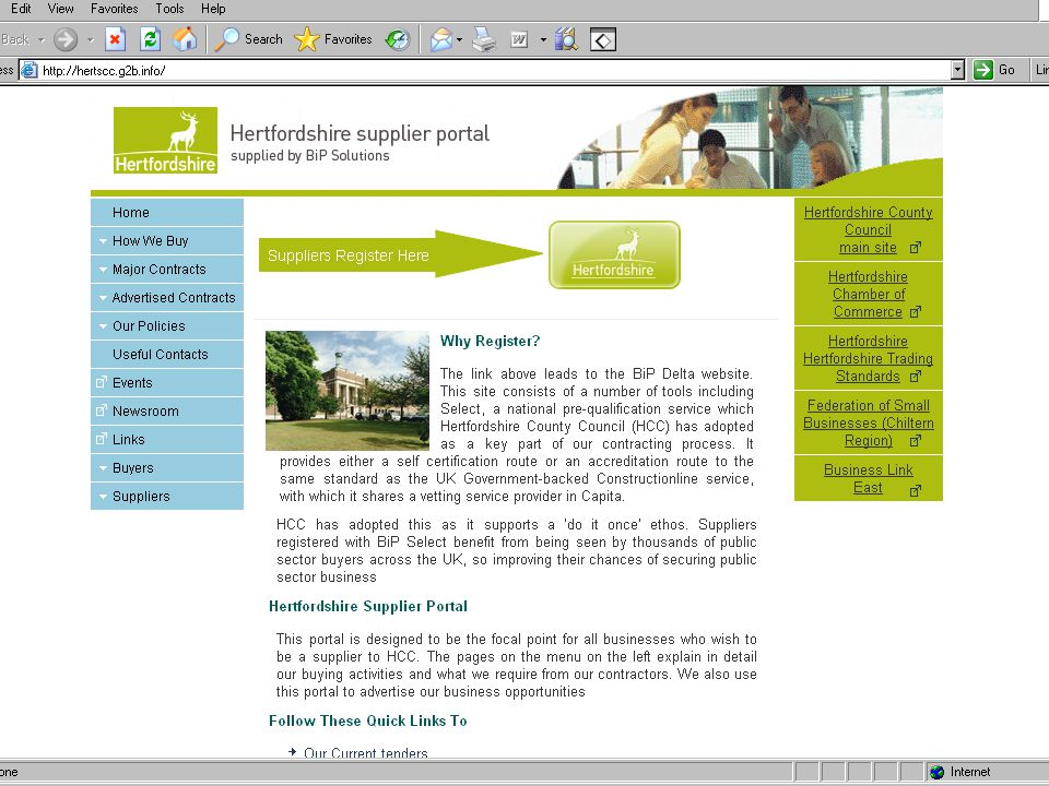 www.hertsdirect.org Supplier portal