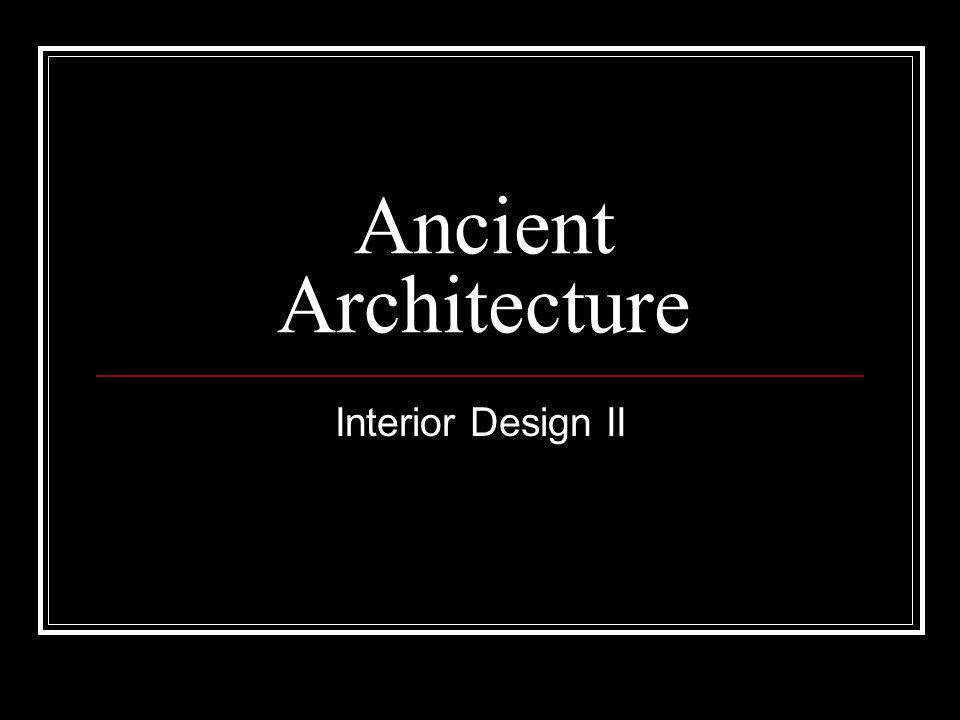 Ancient Architecture Interior Design II