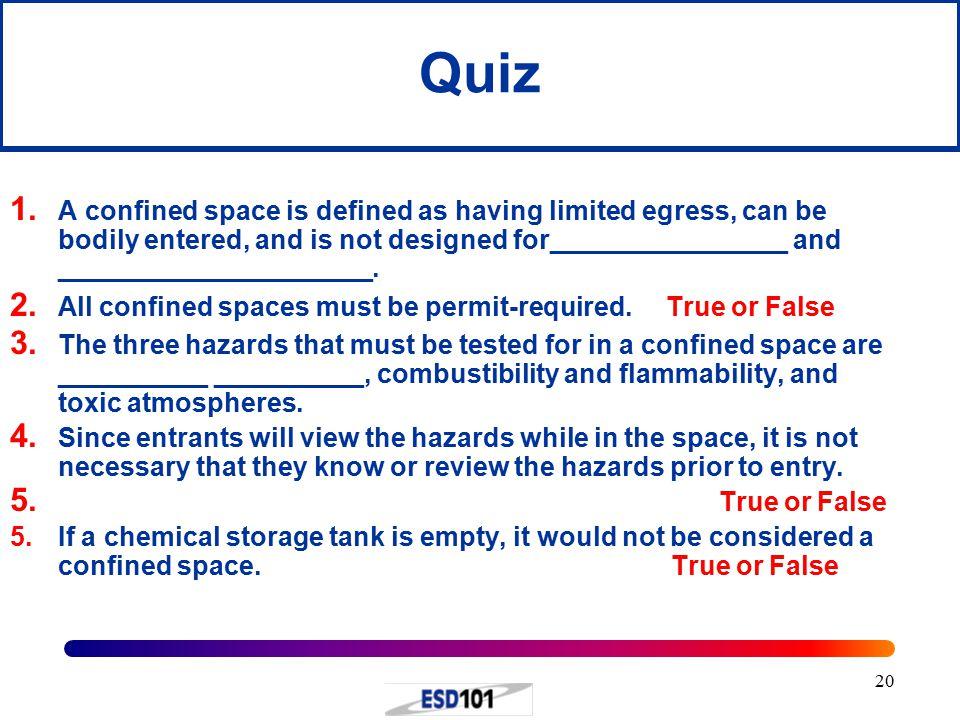 20 Quiz 1.