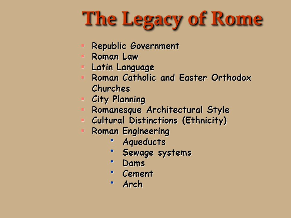 Rome's Last Days  Even though by the end of the 5th century Rome would cease to be symbol of the capital of the past, the legacy of Roman rule would live on in the Byzantine Empire (East Roman) until Muslim invaders would eventually control the capital of Constantinople in 1453 and rename it Istanbul.