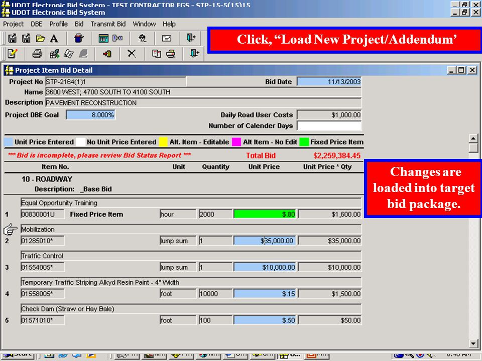 'Move Project' allows multiple users to work different parts of the bid package and then move all the parts to the target PC used to submit the bid.