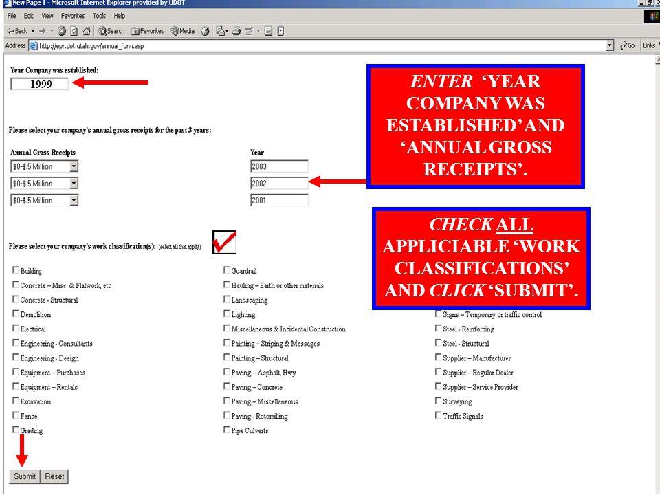 CONFIRM COMPANY PROFILE INFORMATION AND CLICK 'CONTINUE'.