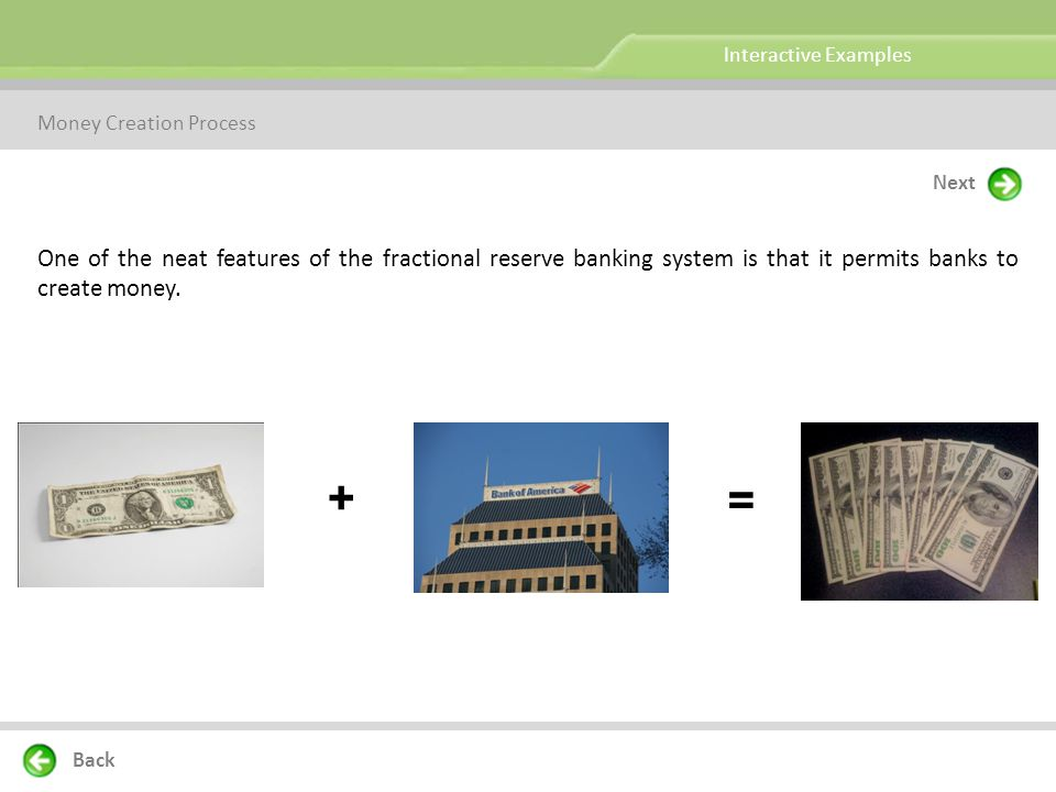 Question: How does fractional reserve banking permit banks to create money.