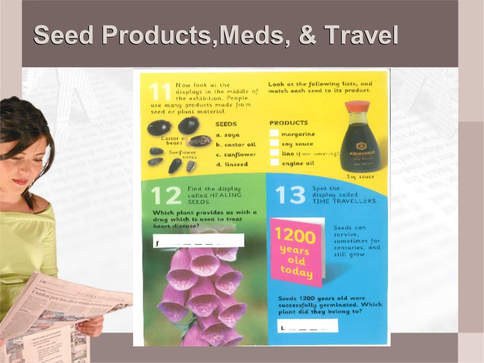 Seed Products,Meds, & Travel