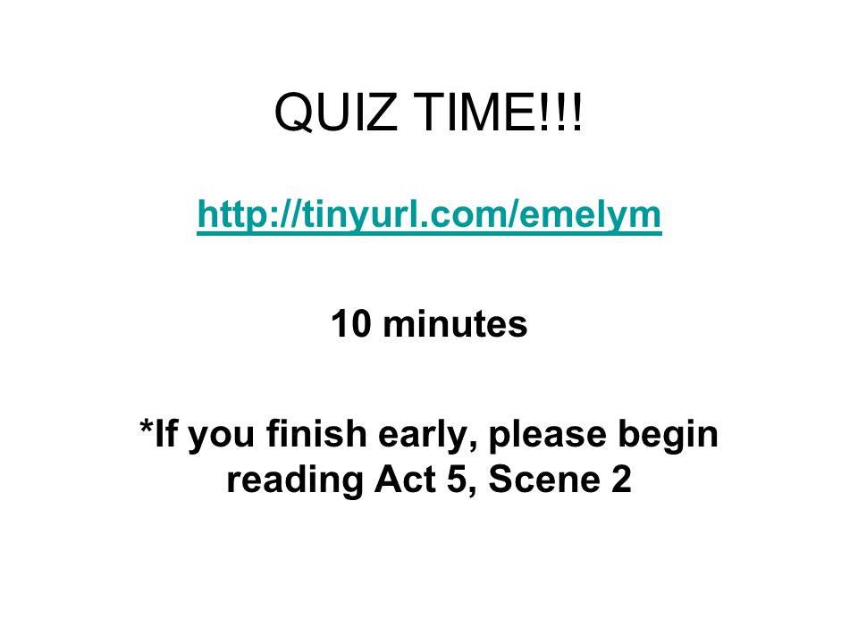 QUIZ TIME!!.