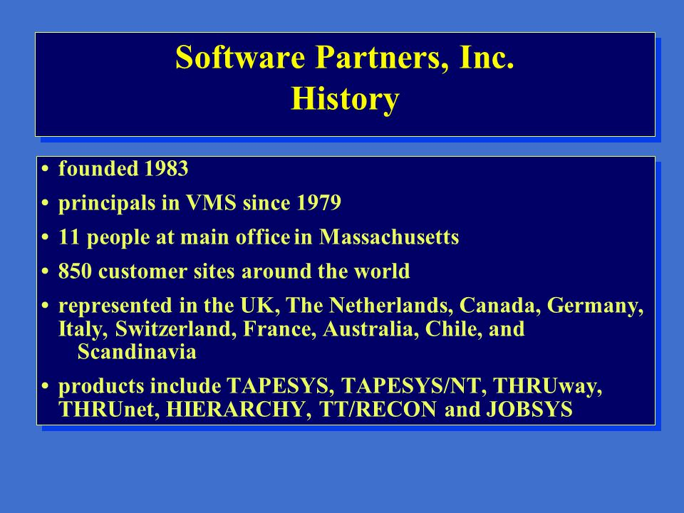 Software Partners, Inc.