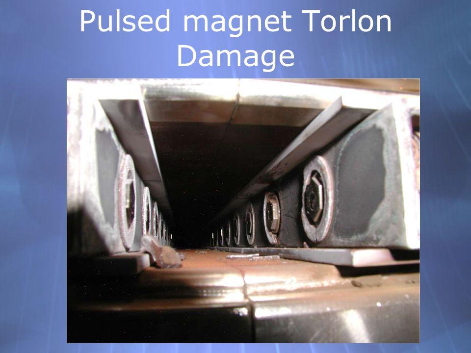 Pulsed magnet Torlon Damage