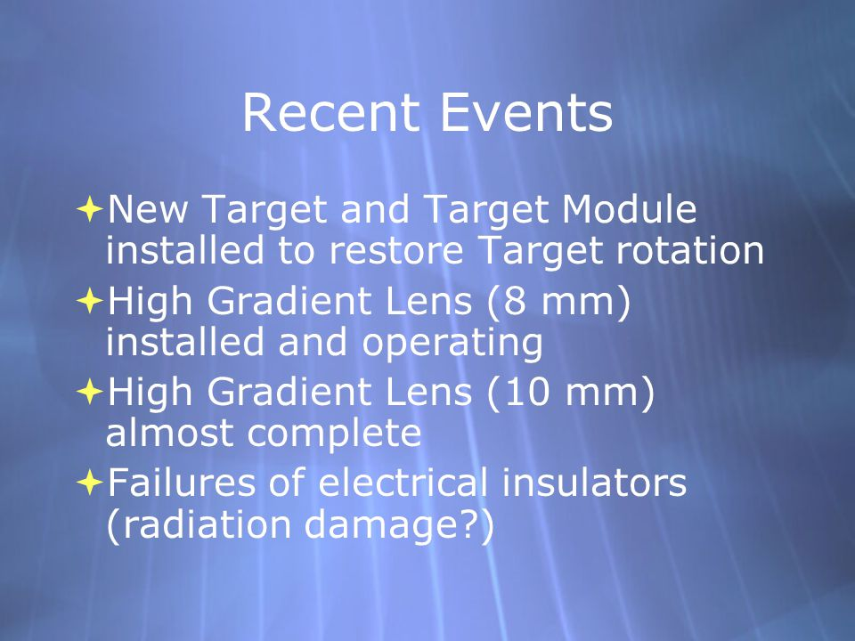 High Gradient Prototype 2 (10 mm) Lens