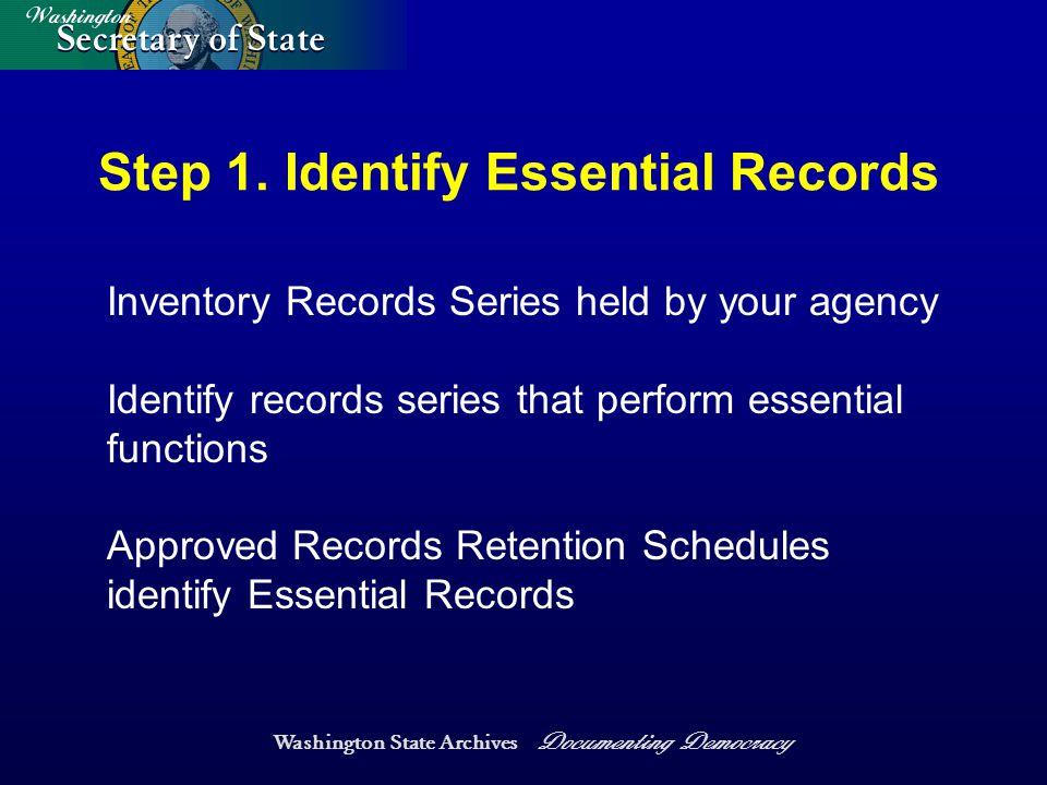 Washington State Archives Documenting Democracy Step 1.