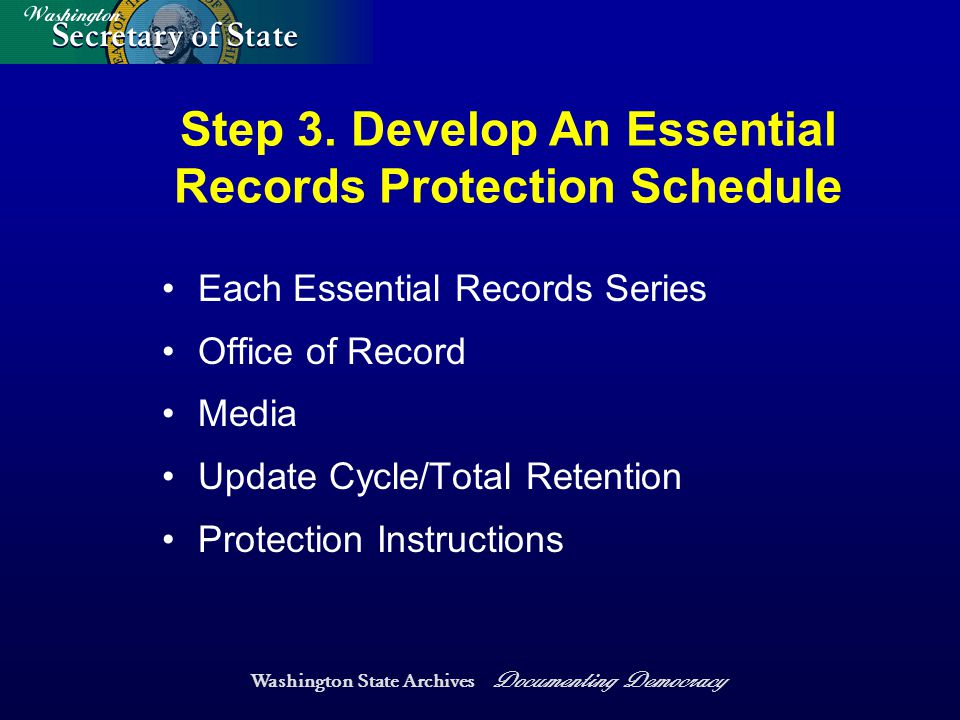 Washington State Archives Documenting Democracy Step 3.
