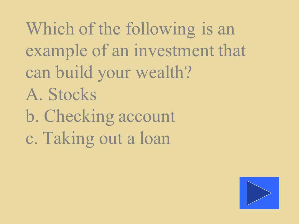 a. A high interest rate