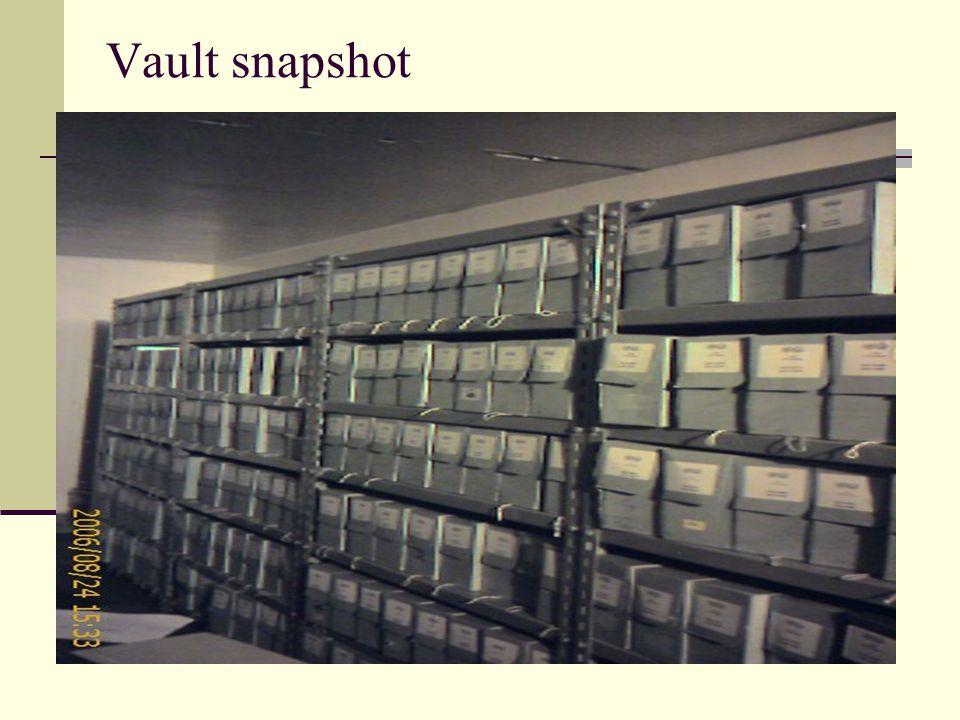 Vault snapshot