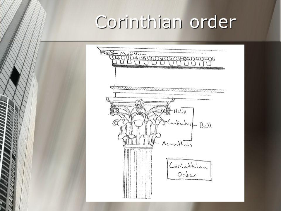 Corinthian order Architectural Studies C-D