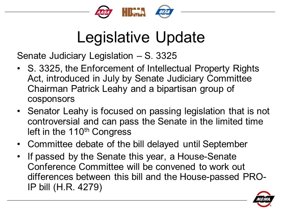 11 Legislative Update Senate Judiciary Legislation – S.