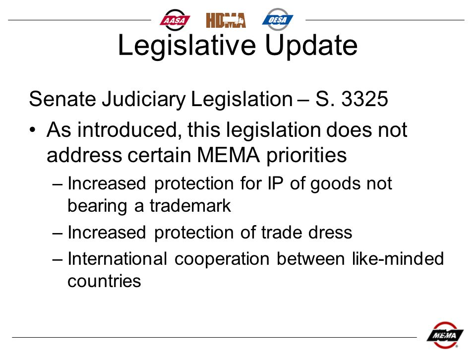 14 Legislative Update Senate Judiciary Legislation – S.