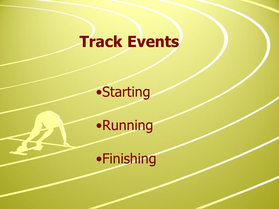 Starting Running Finishing Track Events