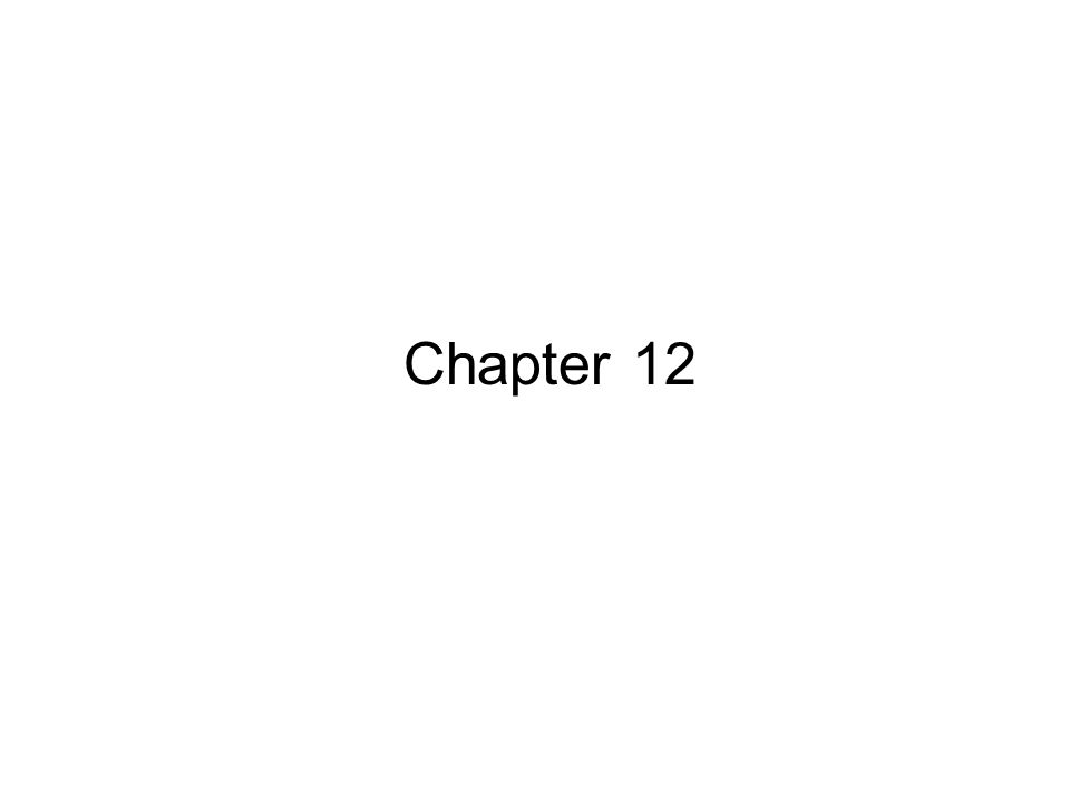 1 Chapter 12