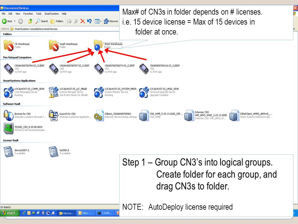 Slide 24 COMPANY CONFIDENTIAL Max# of CN3s in folder depends on # licenses.