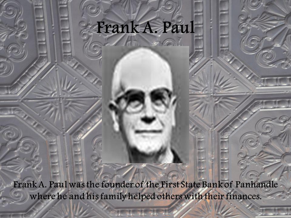 Frank A. Paul Frank A.