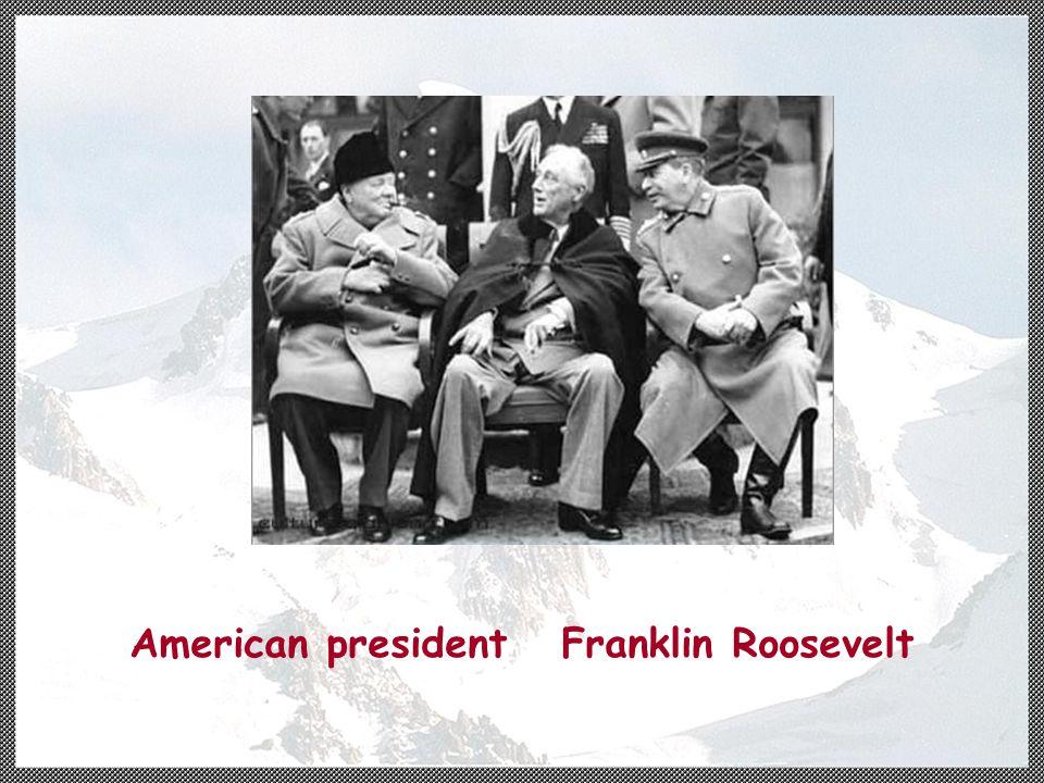 American president Franklin Roosevelt