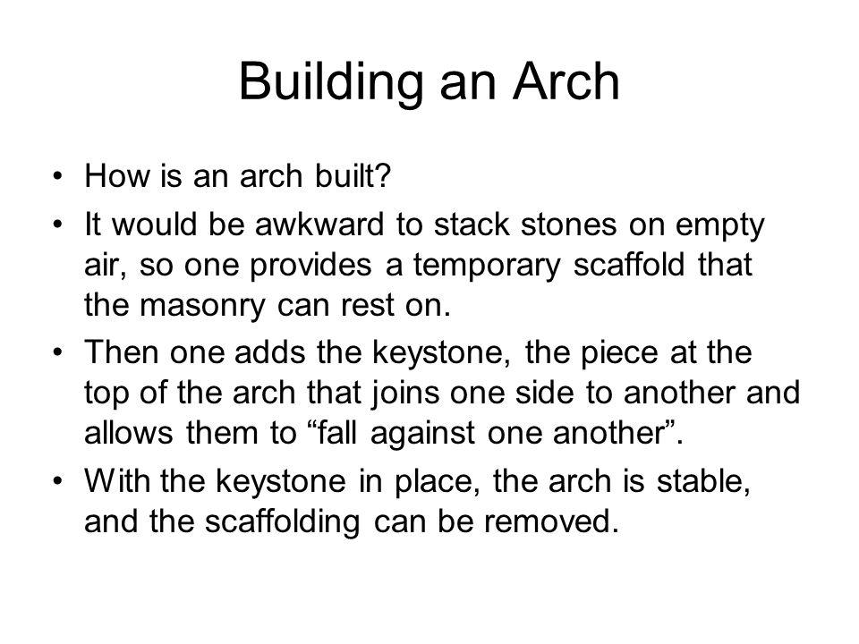 Building an Arch How is an arch built.