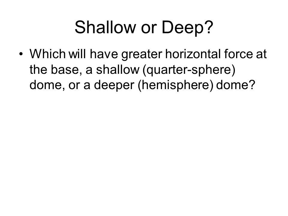 Shallow or Deep.
