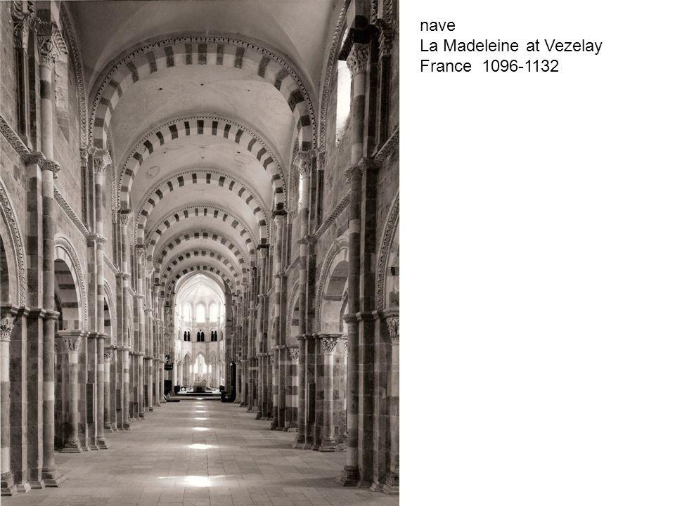 nave La Madeleine at Vezelay France 1096-1132