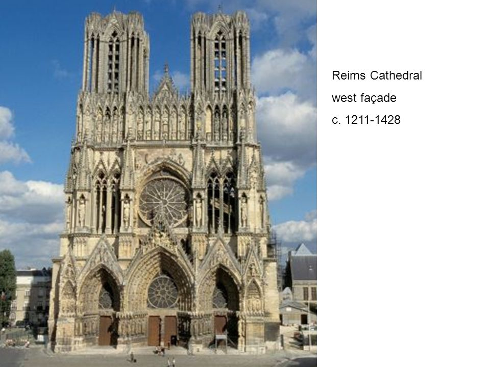 Reims Cathedral west façade c. 1211-1428