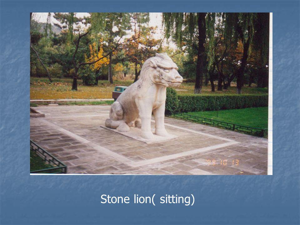 Stone lion( sitting)