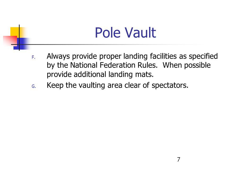 7 Pole Vault F.