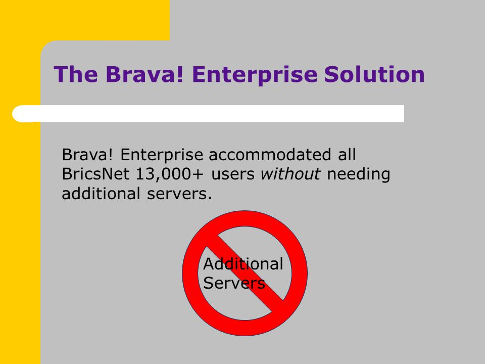 The Brava. Enterprise Solution Brava.