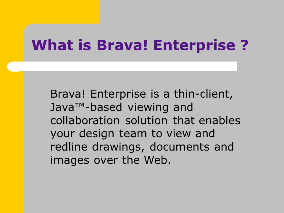 What is Brava. Enterprise . Brava.