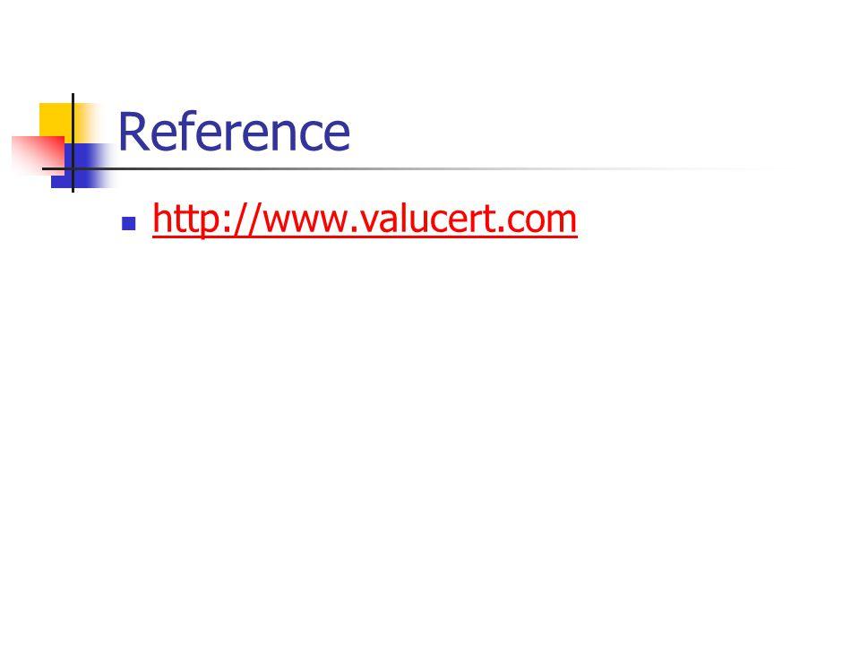 Reference http://www.valucert.com