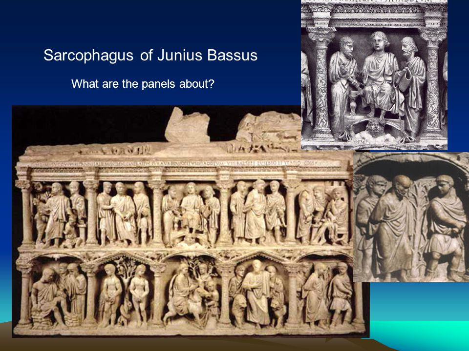 Sarcophagus of Junius Bassus What are the panels about?