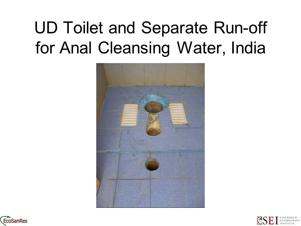 UD Toilet and Separate Run-off for Anal Cleansing Water, India