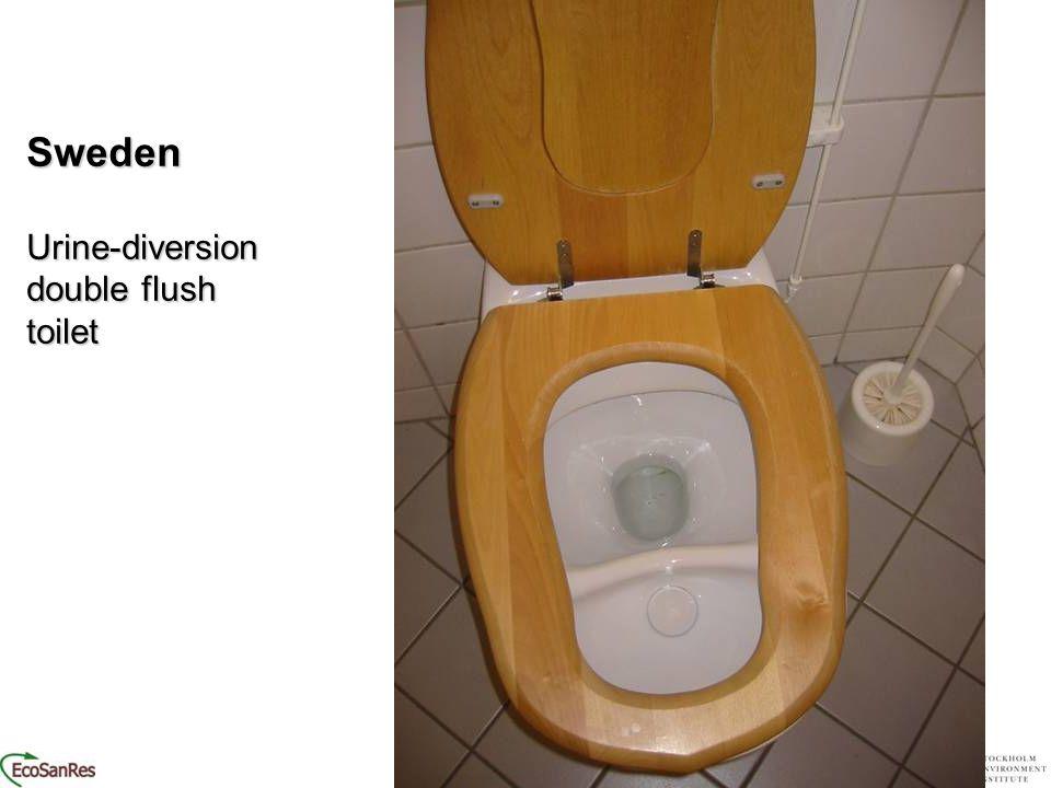 SwedenUrine-diversion double flush toilet