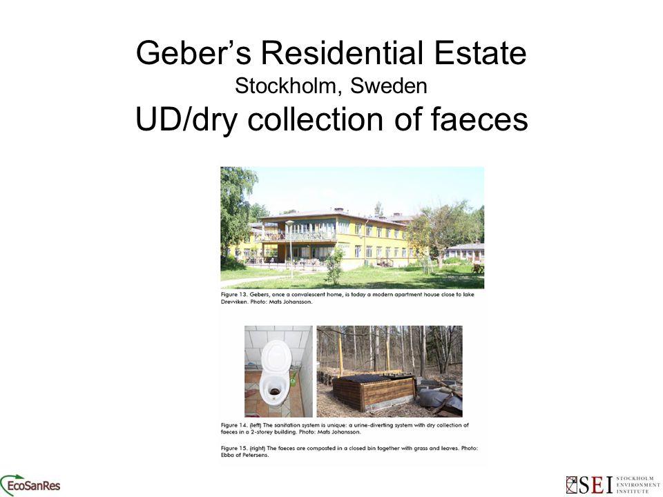 Geber's Residential Estate Stockholm, Sweden UD/dry collection of faeces