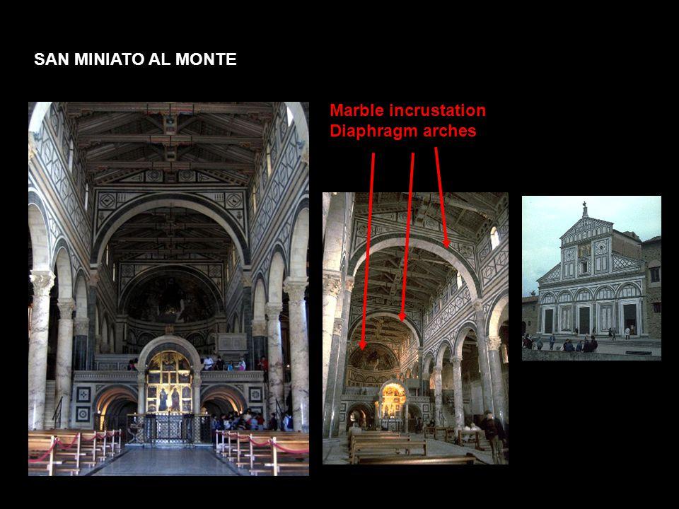 SAN MINIATO AL MONTE Marble incrustation Diaphragm arches