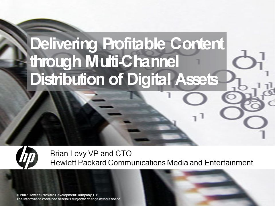 The Digital content revolution The World of digital content, is just beginning….
