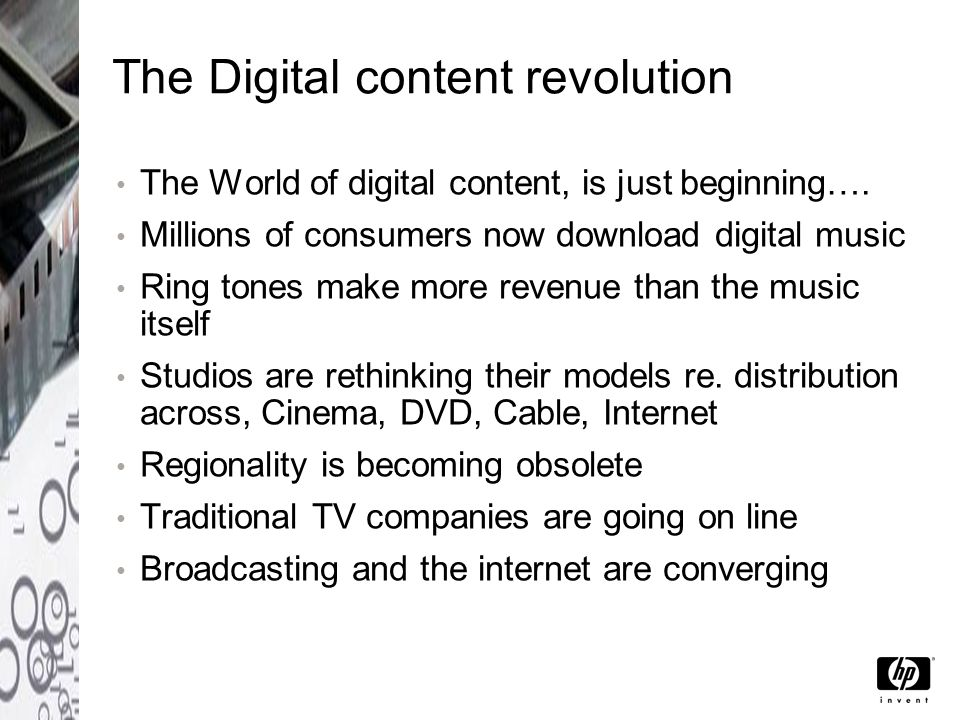 Digital content moves across devices In just a few years we have seen dramatic changes in the way media is consumed and distributed