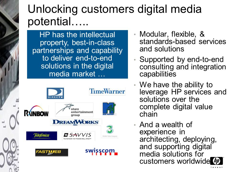 Unlocking customers digital media potential…..