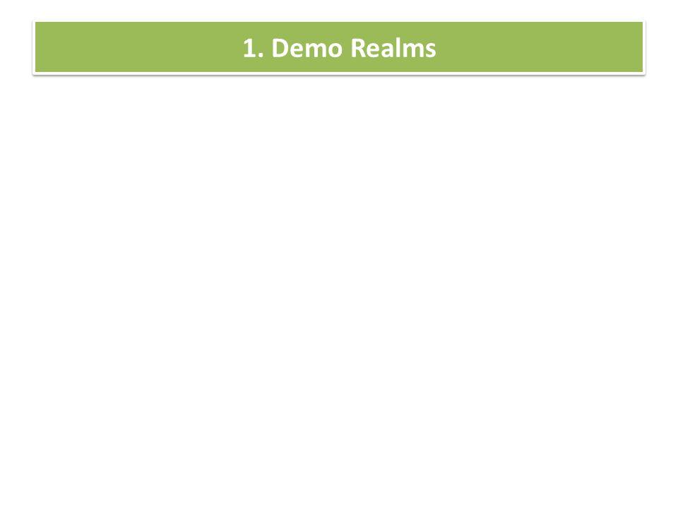 1. Demo Realms