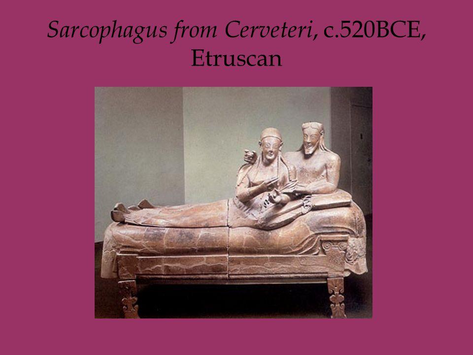 Sarcophagus from Cerveteri, c.520BCE, Etruscan