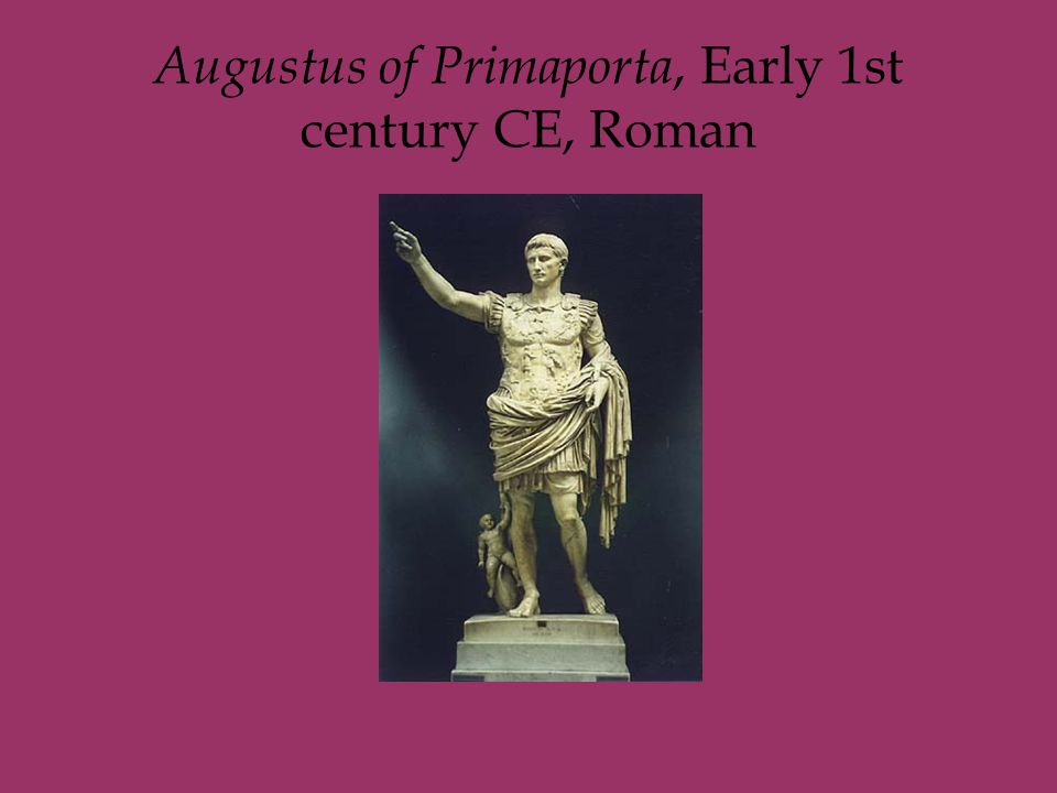 Augustus of Primaporta, Early 1st century CE, Roman