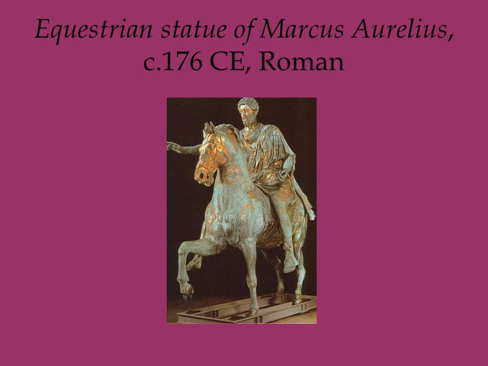 Equestrian statue of Marcus Aurelius, c.176 CE, Roman