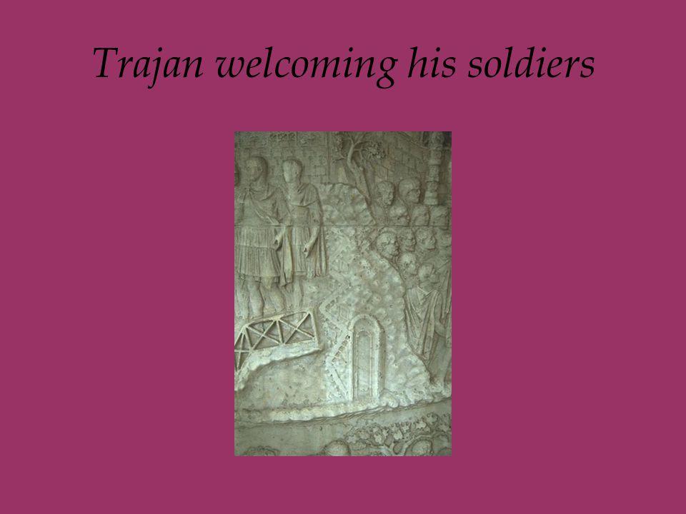 Trajan welcoming his soldiers