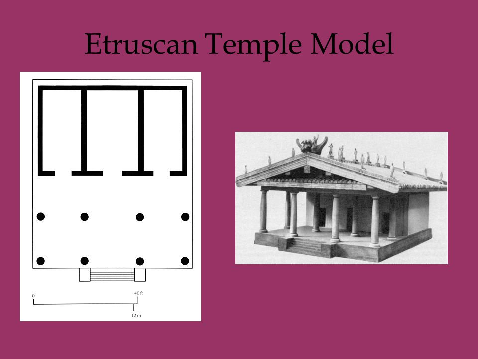 Etruscan Temple Model